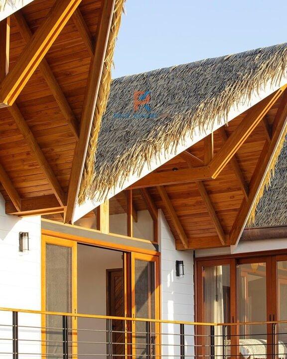 mái lá đẹp trong thiết kế ngoại thất