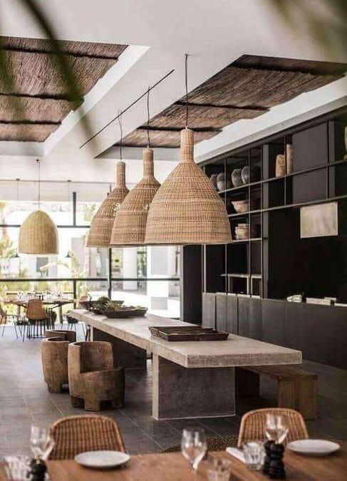 Nhà mái lá đẹp trong thiết kế nhà hàng mang đậm nét dân gian